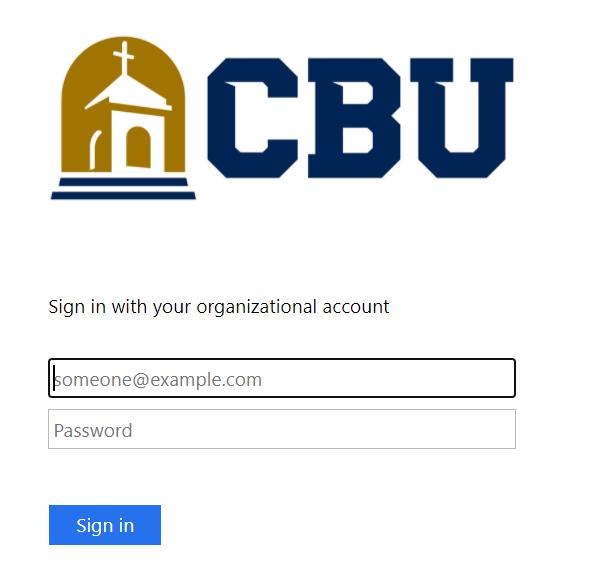 CBU Balckboard login