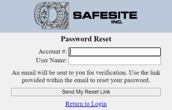 Safesite Sign in