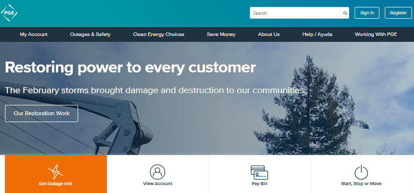 Portland General Electric login