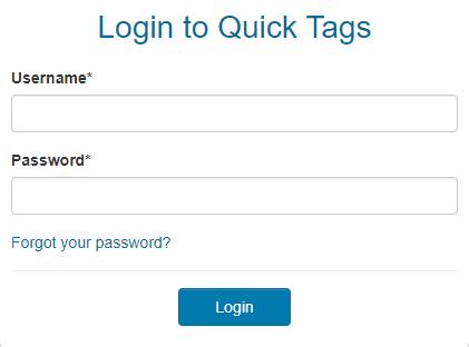 quicktags login