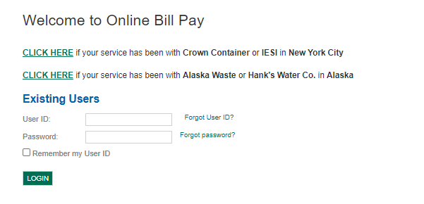 Waste Connections Bill Pay